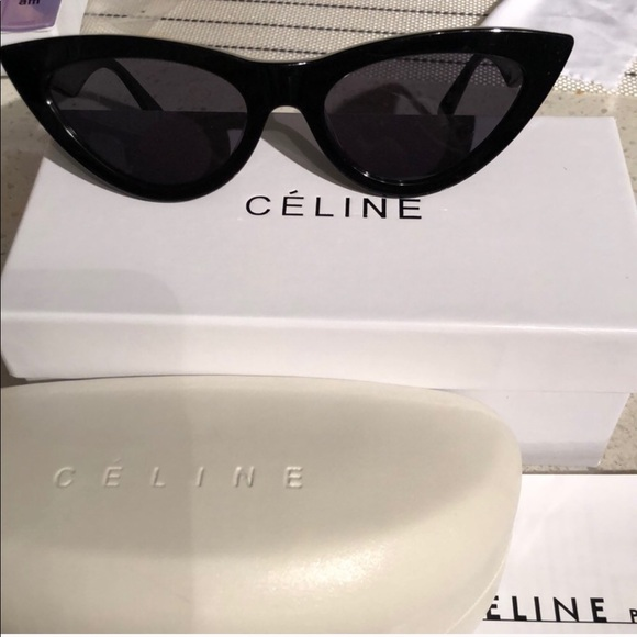 c00213f6e7b Celine exaggerated cat eye sunglasses with a case